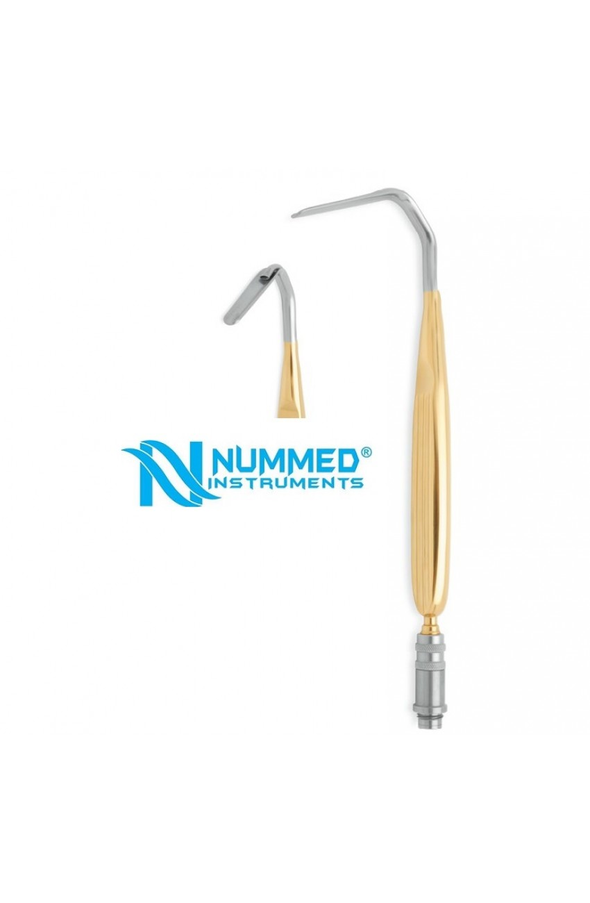 Aufricht Nasal Retractor With Fiber Optic Light Guide, Blade Width 7 mm, Handle Length 20 cmFiber Optic Instruments For Plastic Surgery